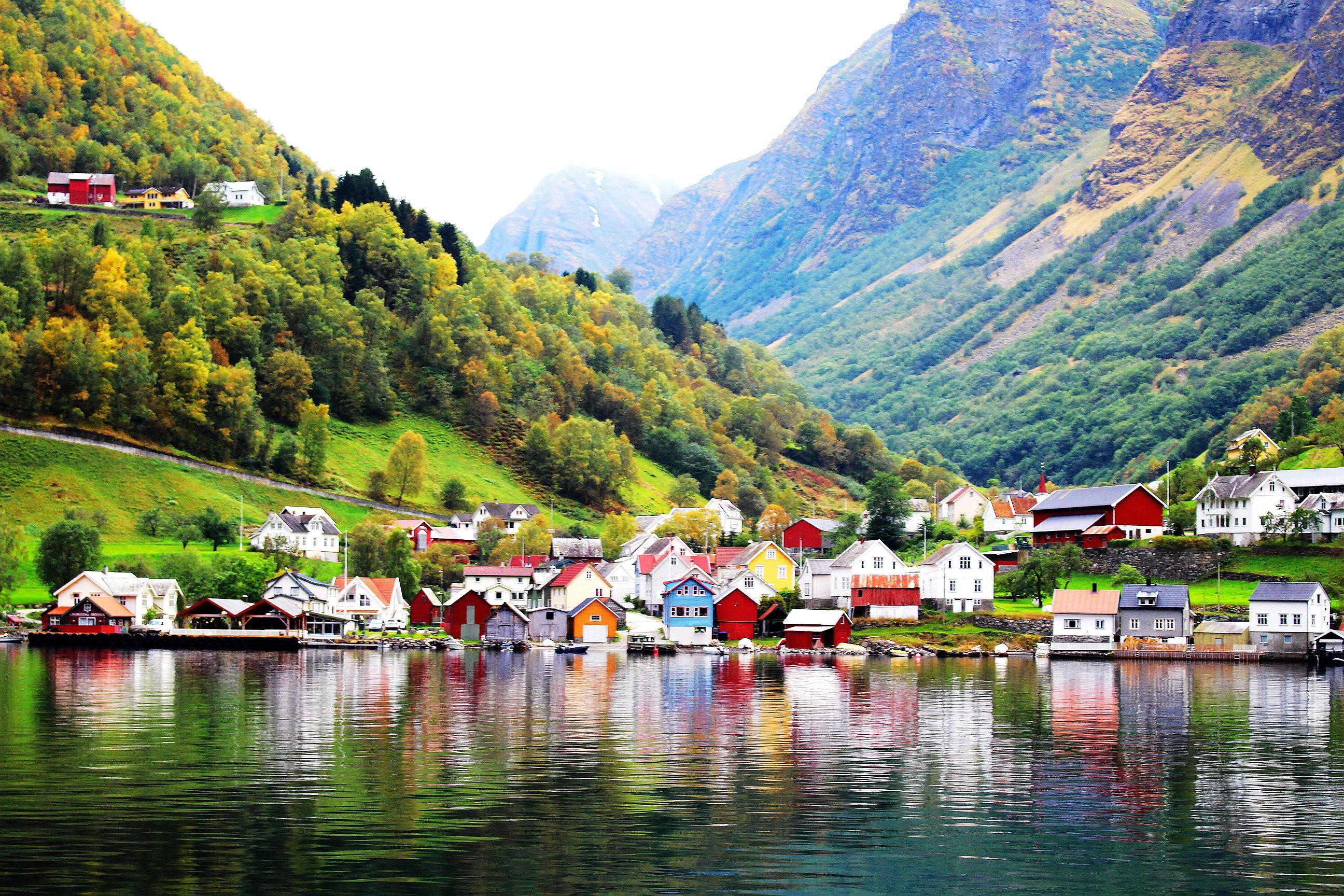 欧美系小镇风景图片
