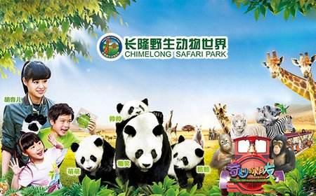 (悠品·两广) 广州 长隆野生动物园 深圳 桂林 阳朔 古东瀑布3飞10