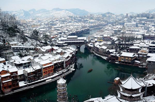 西双版纳冬天风景图